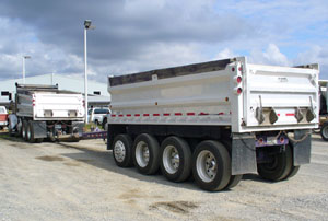 Dump Trucking on end dump semi trailers